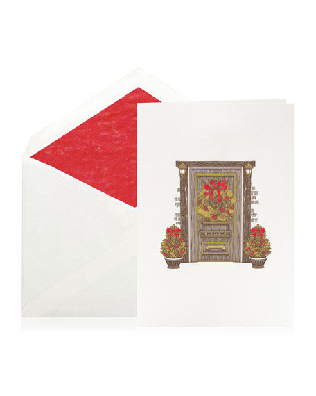 Bell'INVITO Holiday Door Stationery Set, Box of 10