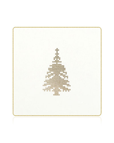 Cross Stitch Christmas Tree Coasters  Box of 18