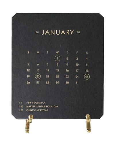 2020 Calendar Noir