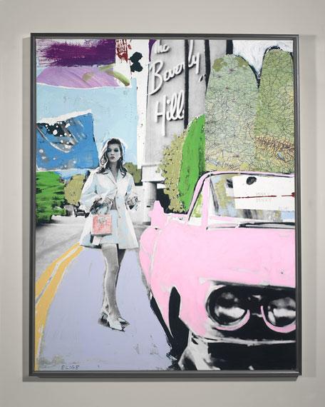 """RFA Fine Art """"Pinky Dinky Blue"""" Giclee Wall Art by Elige"""
