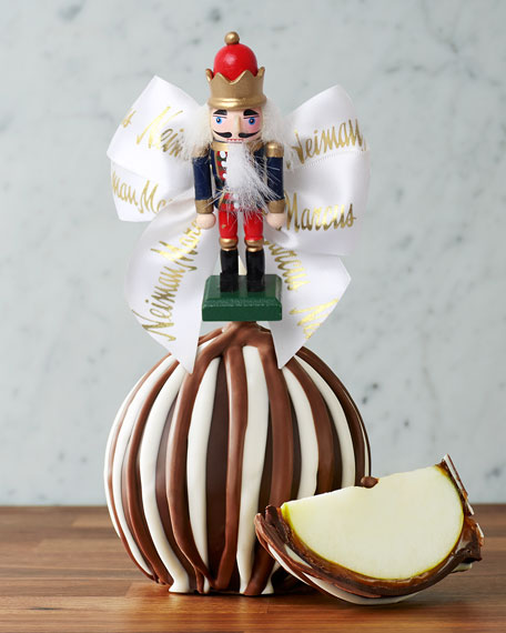 Mrs Prindable's Nutcracker White Bow Triple Chocolate Candy Apple
