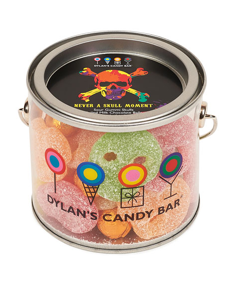 Dylan's Candy Bar Halloween Skull Gummies in Paint Can