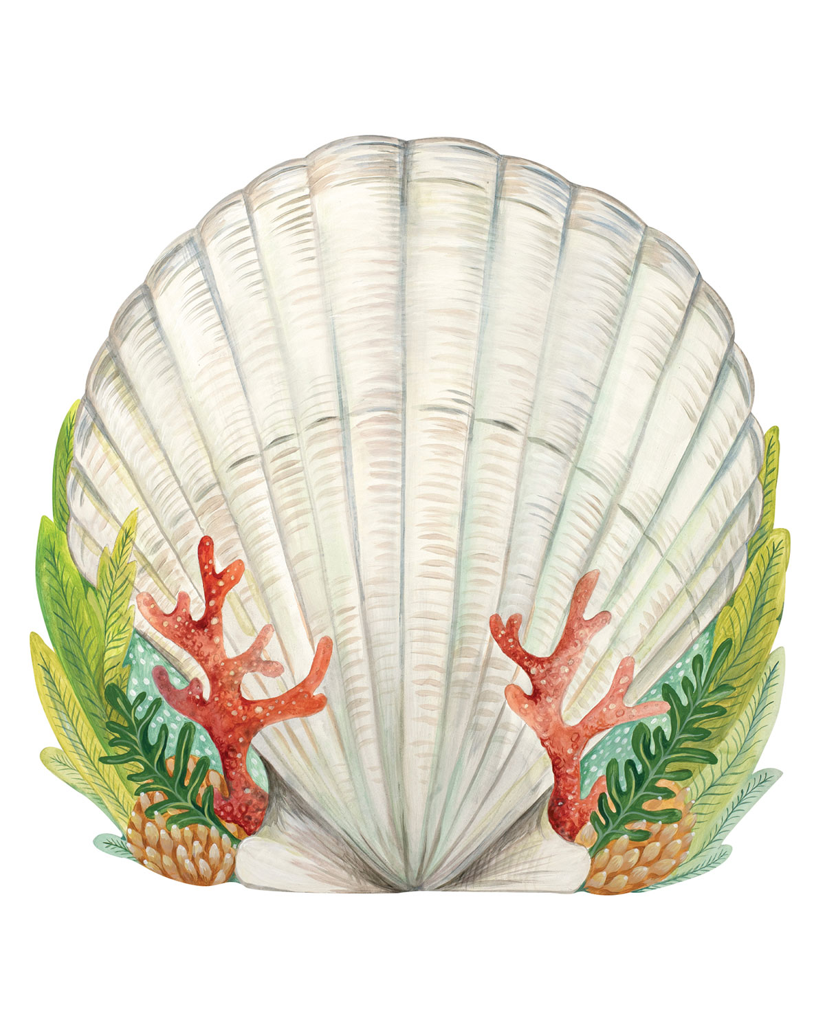 Hester & Cook Set of 12 Shell Paper Placemat