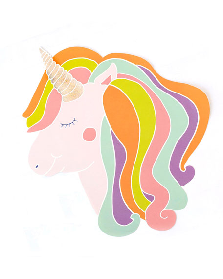 Hester & Cook Set of 12 Unicorn Paper Placemat