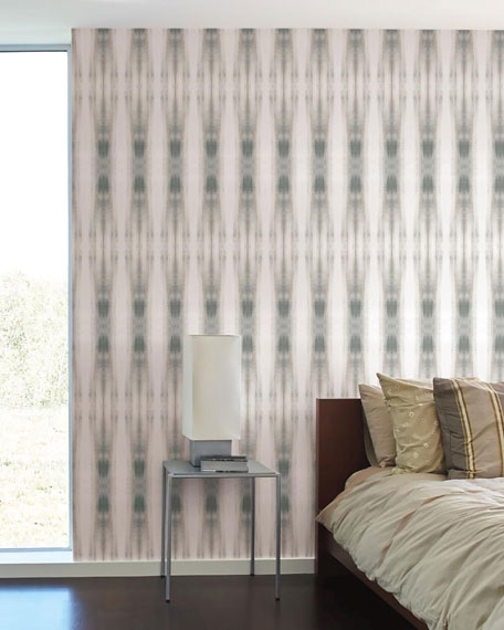 Carol Benson Cobb for York Wallcoverings Beneath Textile Wallpaper Panels, Neutral