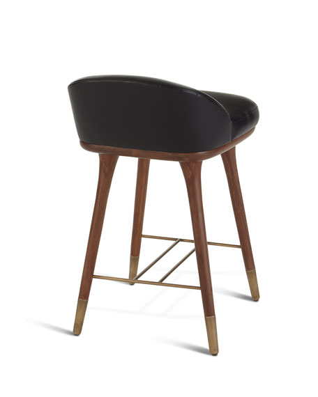 Arteriors Beaumont Leather Counter Stool