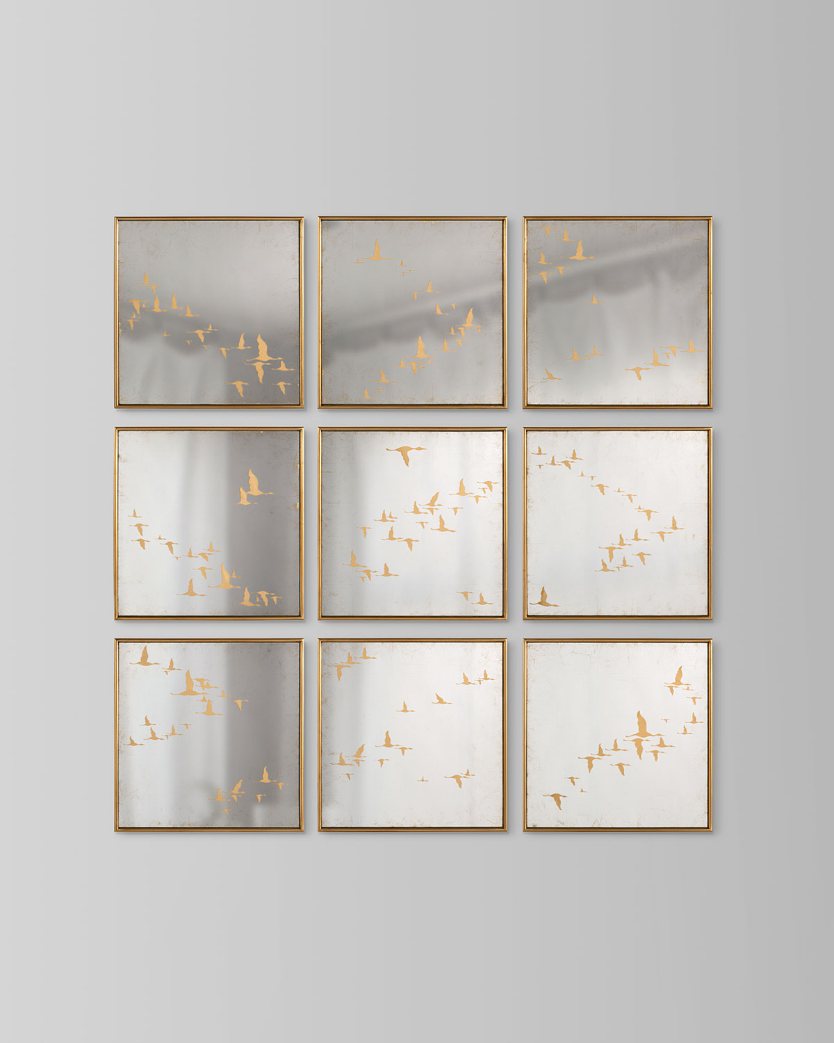 John-Richard Collection Migration Mirrors, Set of 9