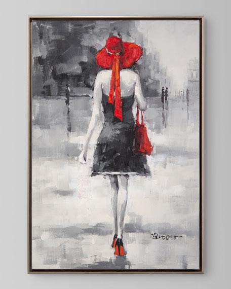"John-Richard Collection ""Crimson Stroll I"" Painting by Bateer"