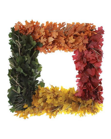 "Floral Treasure 18"" Treasured Fall Square Wreath"