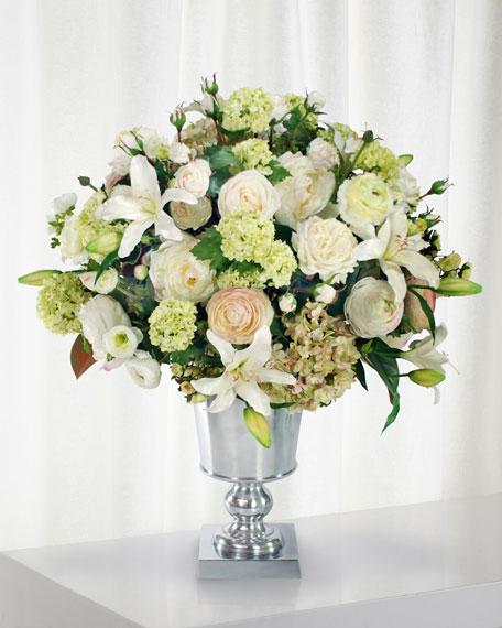 Winward Lily Rose & Peony in Urn Vase