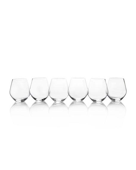Mikasa Gianna All Purpose Stemless Wine Glasses, Set of 6