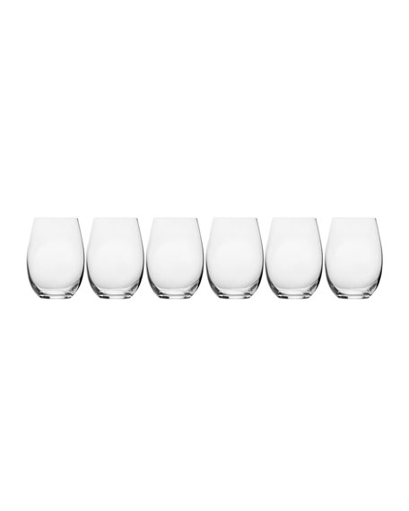 Mikasa Stiletto Stemless Wine Glasses, Set of 6