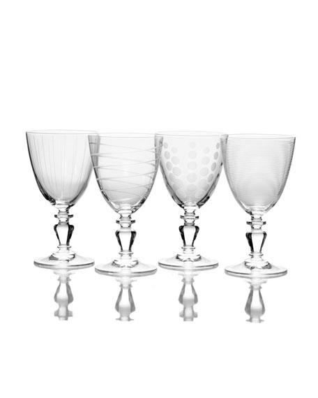 Mikasa Cheers Vintage Wine Glasses, Set of 4