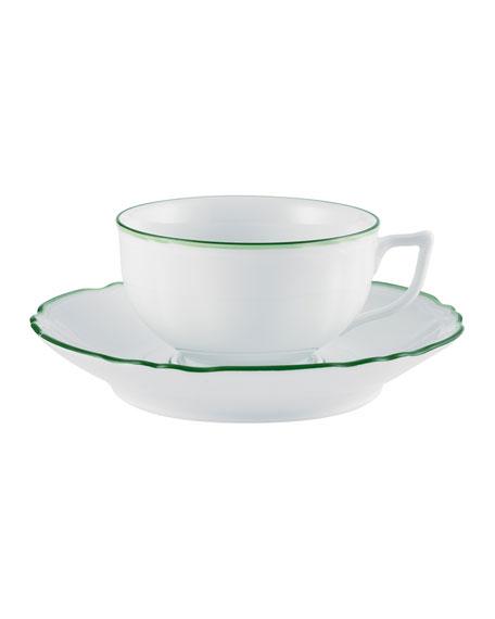 Raynaud Touraine Double Filet Green Tea Saucer