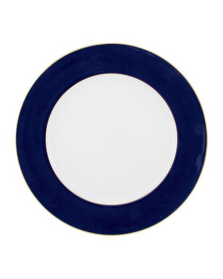 Raynaud Horizon Blue de Four Filet Gold Buffet Plate