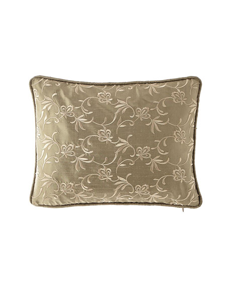 Austin Horn Collection Everleigh Embroidered Silk Pillow