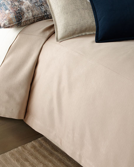 Fino Lino Linen & Lace Nacre Queen Coverlet