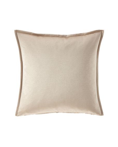 Fino Lino Linen & Lace Nacre Throw Pillow