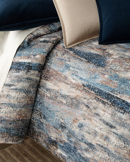 Fino Lino Linen & Lace Mukai Queen Duvet