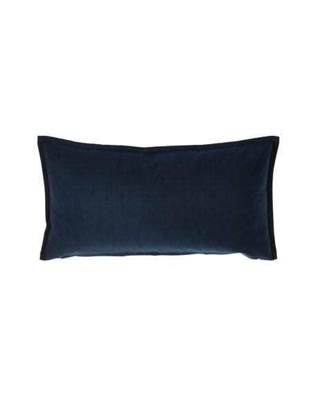 Fino Lino Linen & Lace Velvet Mini Lumbar Pillow