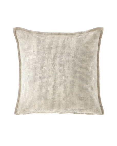 Fino Lino Linen & Lace Hammered Throw Pillow
