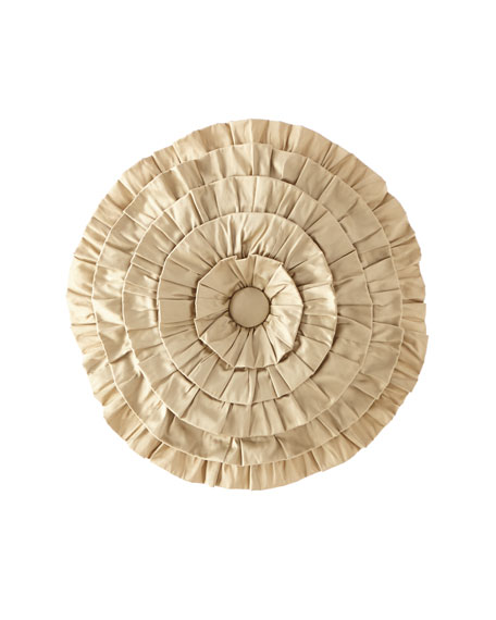 Austin Horn Collection Juniper Round Ruffle Pillow