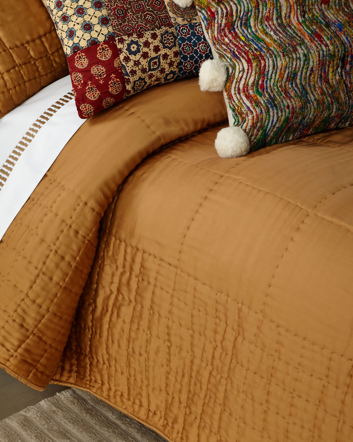 Amity Home Cash Ochre King Quilt