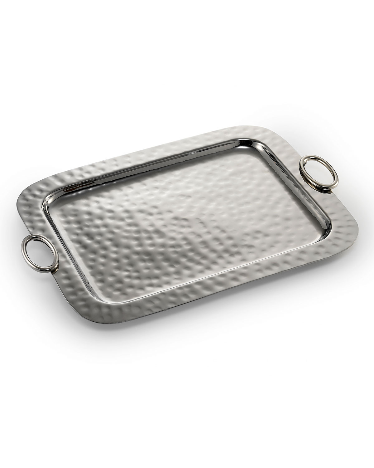 Mary Jurek Hammered Serving Tray with Ring Handles