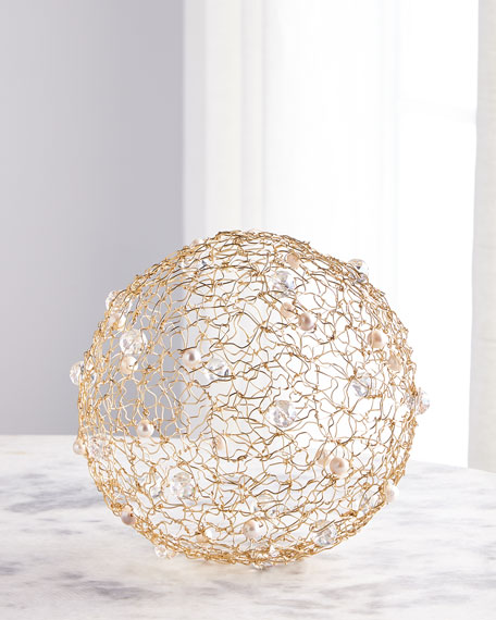 """Joseph Williams 31"""" Wire Art Globe"""