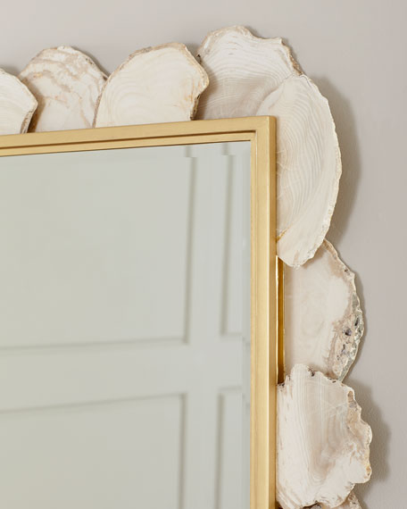 Image 4 of 4: Fossilized Clam Rectangular Mirror