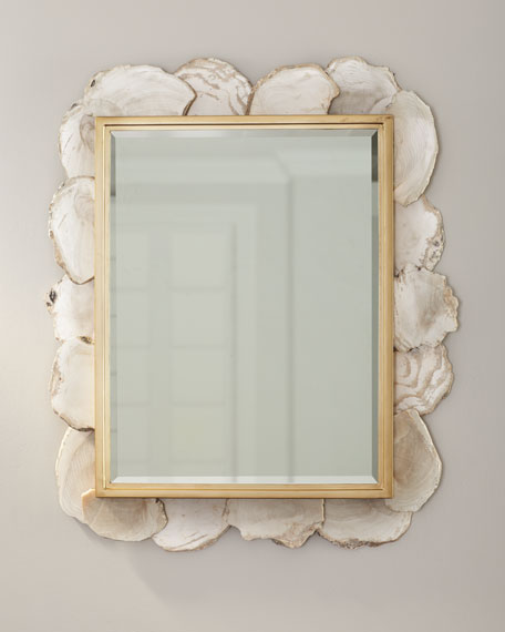 Image 1 of 4: Fossilized Clam Rectangular Mirror