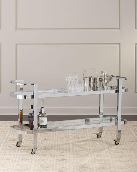 Regina Andrew Design Carter Stainless Steel Bar Cart