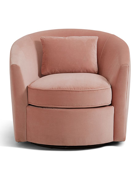 Bernhardt Elizabeth Blush Swivel Chair