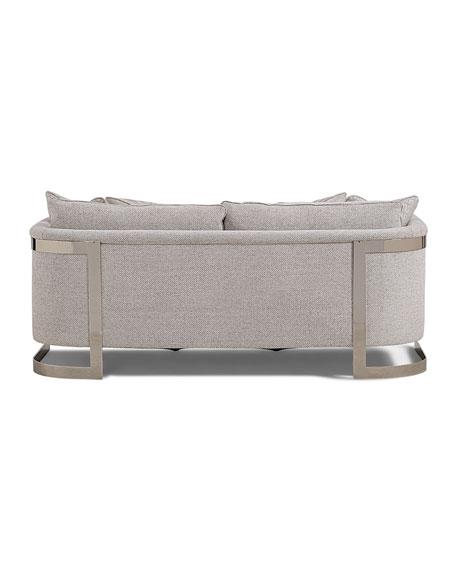 "Bernhardt Baldwin Stainless Steel Frame Sofa, 82"""