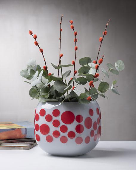 NUDE Iris Apfel Mono Box Red Dot Vase