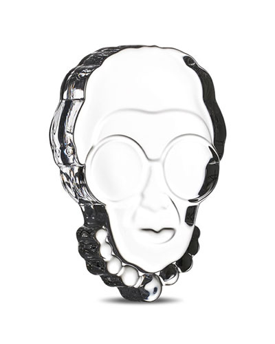 Iris Apfel Clear Paperweight
