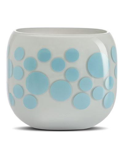Iris Apfel Mono Box Blue Dot Vase