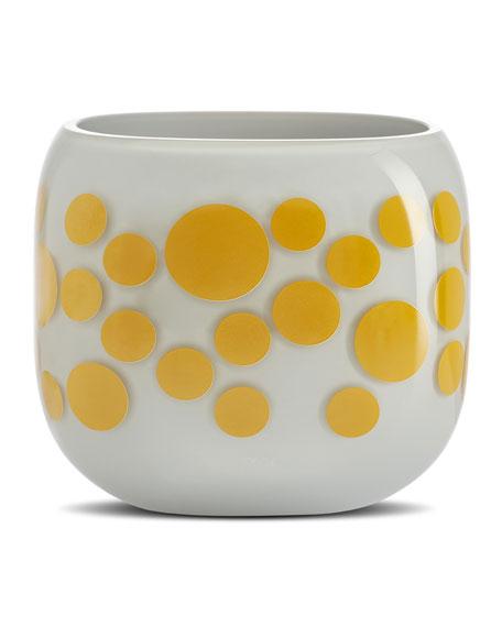 NUDE Iris Apfel Mono Box Yellow Dot Vase