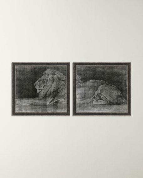 Paragon Decors Lion Wall Decor, Set of 2