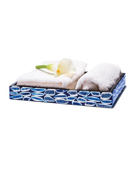 LADORADA Blue Almendro Bath Tray