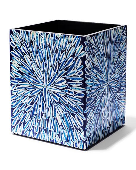 LADORADA Blue Almendro Wastebasket
