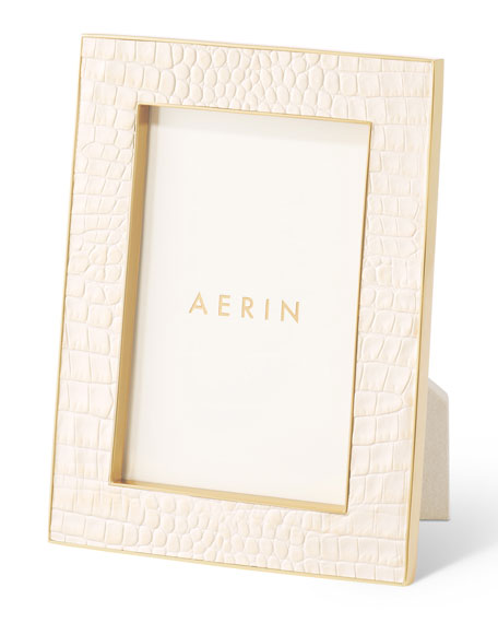 "Image 3 of 4: AERIN Classic Croc Leather Frame, 4"" x 6"""