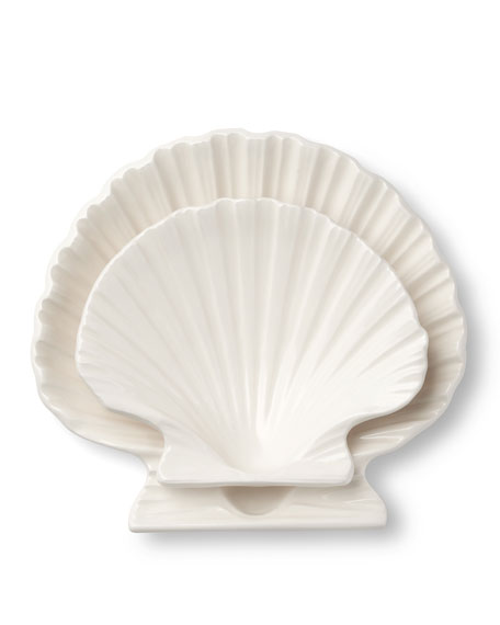 Image 3 of 4: AERIN Shell Medium Platter