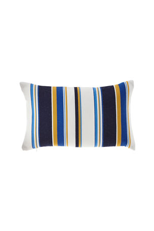 Elaine Smith Harbor Stripe Indoor/Outdoor Lumbar Pillow