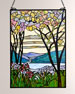 Image 1 of 2: Dale Tiffany Tiffany Magnolia Window Panel