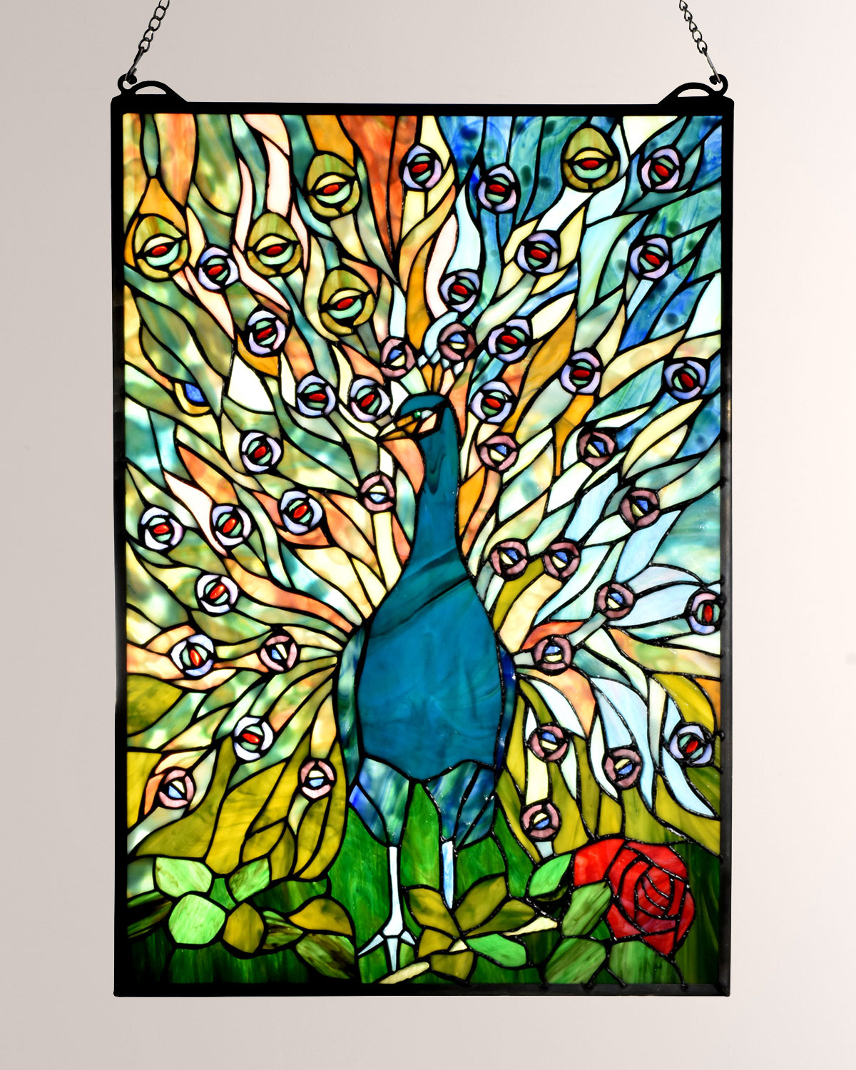 Dale Tiffany Tiffany Peacock Window Panel