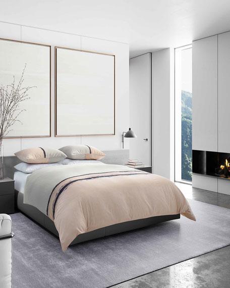 Vera Wang Verge White King Comforter Set