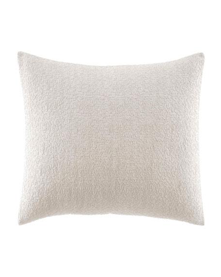 "Vera Wang Verge White Decorative Pillow, 12"" x 16"""