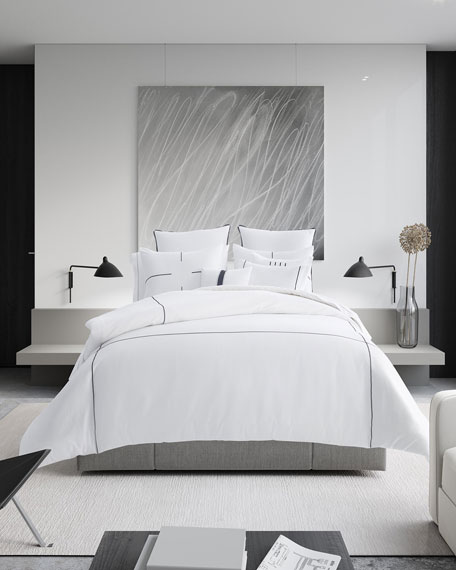 Vera Wang Zigzag White Queen Comforter Set