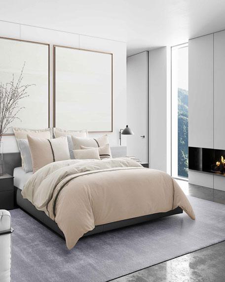Vera Wang Verge White Queen Comforter Set